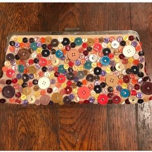 Aldo Tan Button Clutch